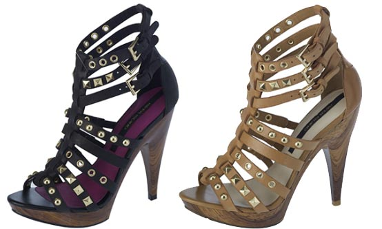 Studded high heel gladiator sandals from River Island > Shoeperwoman