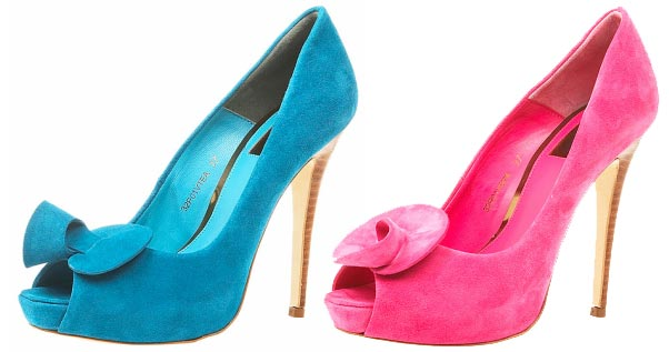 006902a2865e Topshop s  Precious  high heel peep toes in teal and pink   Shoeperwoman