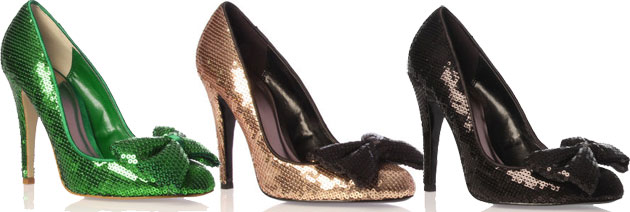 Kurt Geiger Sequin Dolly Court Shoes