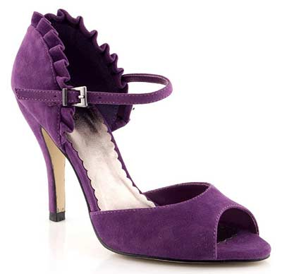 Barratts two-part purple sandals with frill trim > Shoeperwoman