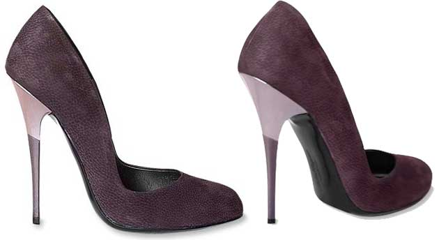 Salvatore Ferragamo Suede Bicolor Pumps