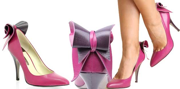 f5d39c8bcce2c Ted Baker Hania pointed bow back court shoes in pink