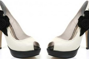 black-and-white-peep-toes