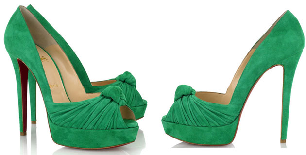 timeless design 2a575 59976 Christian Louboutin Gressimo 140 green suede pumps ...