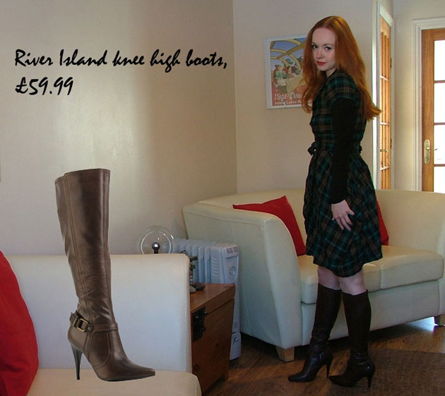 333ad31c88 Shoeperwoman's Shoes: River Island brown pointed knee-high boots