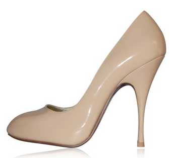 Miss Floyd nude patent high heeled pumps > Shoeperwoman