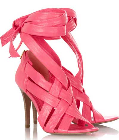 09af74310430 Tory Burch pink  Wrap Up  sandals