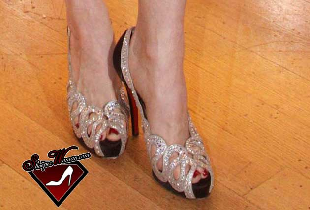Dita Von Teese in Christian Louboutin shoes