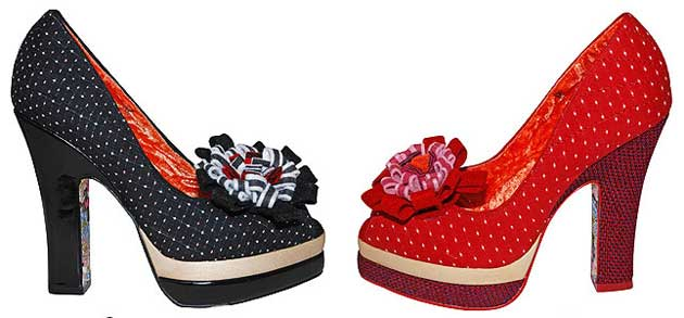 81edf00fdcf7 Irregular Choice  Pep In Your Step  polka dot platform shoes