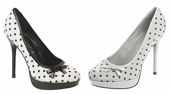 385fd554f75 Polka dot platform court shoes from New Look   Shoeperwoman