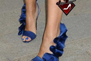 Veronica Webb in Christian Siriano shoes