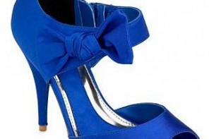 blue side bow shoes