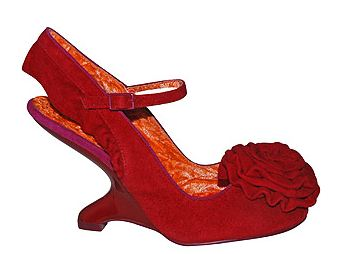 31117a4e3d44 Irregular Choice red suede  Dance the Night Away  shoes