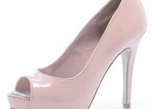 nude patent peep toes