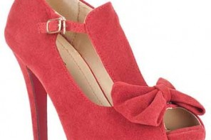red-sude-bow-shoes
