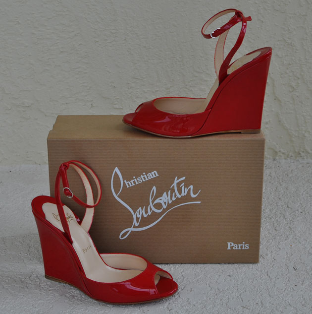 Christian Louboutin Une plume 140mm Wedges Rose Paris