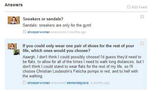 shoeperwoman on formspring