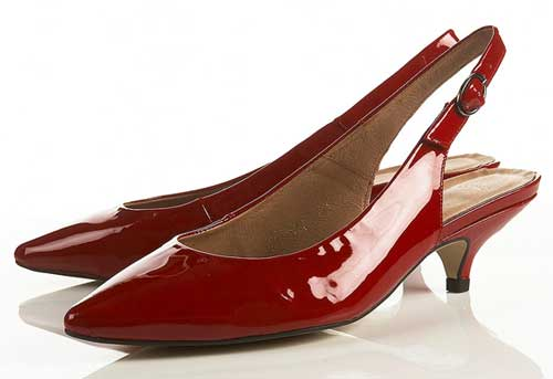 Red Kitten Heel Pumps