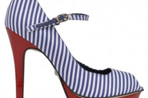 stripey nautical shoes