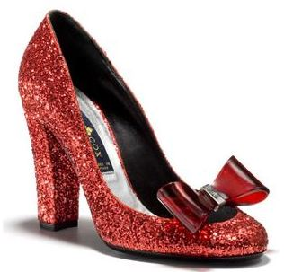 Patrick Cox's red glitter Dorothy shoes make me feel like I'm definitely not in Kansas any more. Not available to buy online, sadly, but visit the Patrick