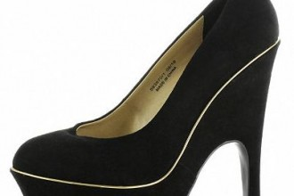 black suede court wedge shoes