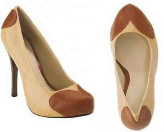 9134c5252ede Fearne Cotton Loveheart platform court shoes