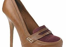 leather heeled loafers