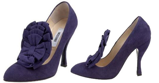 34be7eb57f1 Moschino purple suede Montaparnasse court shoes   Shoeperwoman