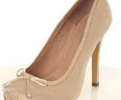 satin heeled ballet shoes