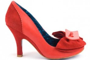 irregualr choice lady bow court shoes