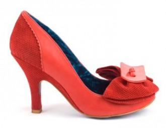 0332eb87ee0a Irregular Choice red Lady Bow court shoes