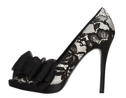 Karen Millen lace peep toes with bow