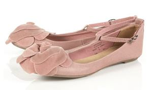 e439f9eac81d Pink  Marla  t-bar flower detail pumps from Topshop
