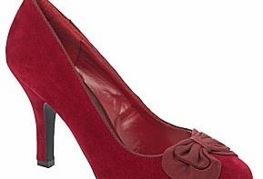 red bow court shoes