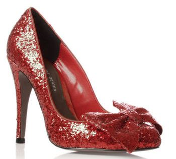 e3df4d21a8615 The Ultimate 'Dorothy' Shoes: Kurt Geiger red glitter 'Jasmine' bow ...