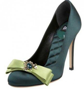 dolce-and-gabbana-green-bow-pumps