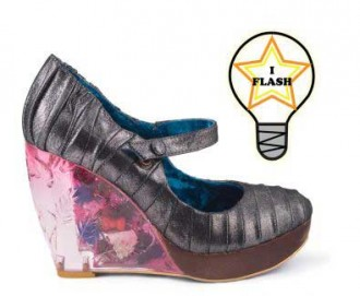 0f8904b99d6c Irregular Choice Low Level Danger wedges with light up heels