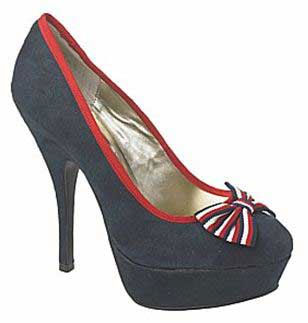 New Look navy bow platforms