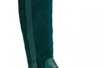 teal-flat-boots