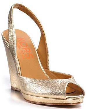 michael kors gold wedge heels | Nashua Sports Academy
