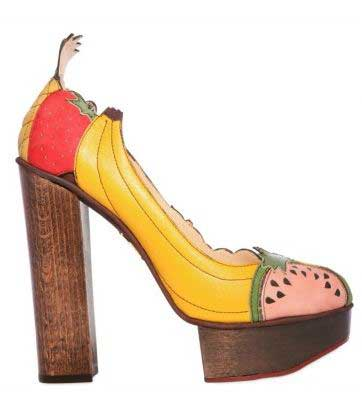 charlotte olympia fruit covered shoes Charlotte Olympia fruit covered platform shoes