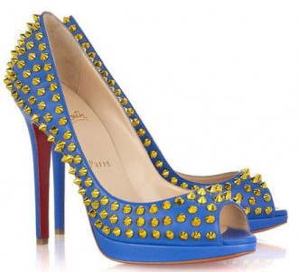 Christian Louboutin Yolanda Spikes 120 studded leather pumps