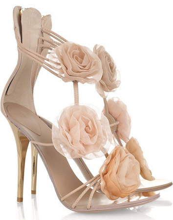 giuseppe zanotto flower sandals Giuseppe Zanotti flower appliquéd leather sandals