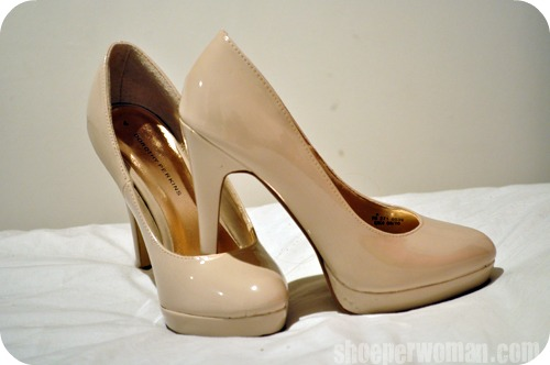 nude high heel shoes &gt