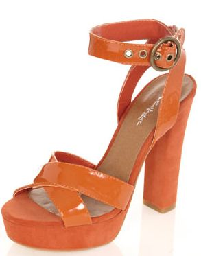 orange sandals miss selfridge