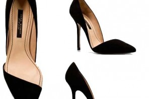 Zara asymmetric court shoes in black