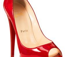 Christian louboutin red lady peep