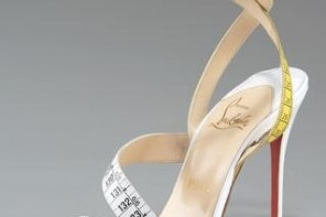 christian louboutin measuring tape sandals