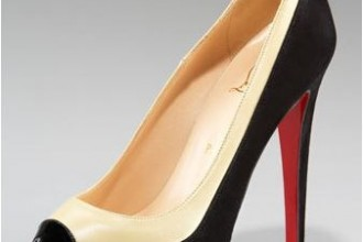 Christian louboutin Mago Two-Tone Cap-Toe Pump