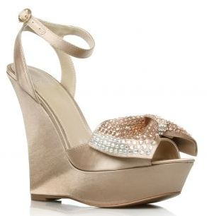 1eb822aa93c7 Carvela  Gabrielle  gold wedge sandals with diamante bow · Read More · High  Heels ...